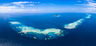 Aerial View of Namena Marine Reserve and Coral Reefs, Namena Island, Fiji. Image #34686