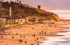 Del Mar Beach at Sunset, northern San Diego County. California, USA. Image #35098