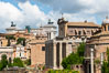 Forum viewed down the Via Sacra, Rome. Italy. Image #35550