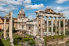 Temple of Saturn and the Roman Forum, Rome. Italy. Image #35557