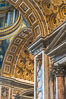 Saint Peter's Basilica interior, Vatican City. Rome, Italy. Image #35565