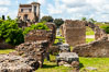 Ancient Roman ruins on the Palatine Hill, Rome. Palatine Hill, Rome, Italy. Image #35579