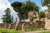 Ancient Roman ruins on the Palatine Hill, Rome. Palatine Hill, Rome, Italy. Image #35580