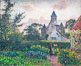Eglise de Knokke, 1894, Camille Pissarro, Musee d'Orsay, Paris. Musee dOrsay, France. Image #35614