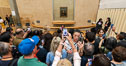 Chaos at the Mona Lisa, Mus�e du Louvre. Musee du Louvre, Paris, France. Image #35640