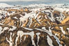 Landmannalaugar highlands region of Iceland, aerial view. Image #35723