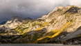 Storm over Lake Sabrina, eastern Sierra Nevada. Bishop Creek Canyon, Sierra Nevada Mountains, California, USA. Image #35832
