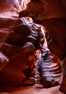 Upper Antelope Canyon, a deep, narrow and spectacular slot canyon lying on Navajo Tribal lands near Page, Arizona. Navajo Tribal Lands, USA. Image #35931