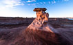 Radio Tower Rock at Sunset, Page, Arizona. USA. Image #36024