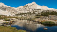 Greenstone Lake and North Peak, Hoover Wilderness. 20 Lakes Basin, California, USA. Image #36420