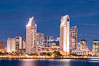 San Diego City Skyline at Sunset, viewed from Point Loma, panoramic photograph. California, USA. Image #36645