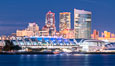 San Diego Convention Center and its waterfront at Night. California, USA. Image #36646