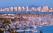 San Diego City Skyline at Sunset, viewed from Point Loma, panoramic photograph. California, USA. Image #36748