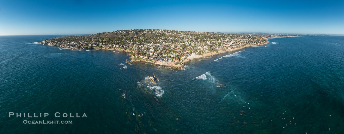 Aerial Panorama of Bird Rock and the La Jolla Coastline