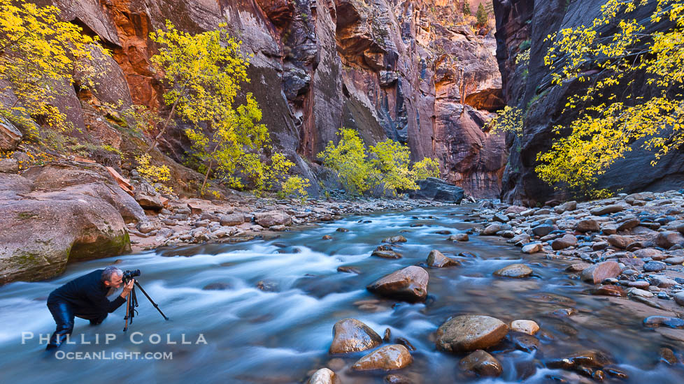 Nature's Best Windland Smith Rice: Photographer in the Virgin River Narrows, Zion National Park, Utah