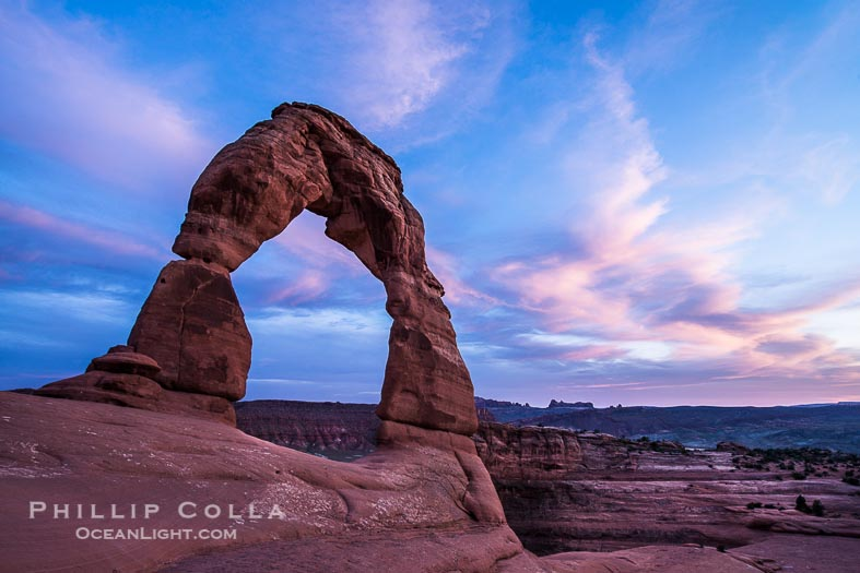 Icon: Sunset over Delicate Arch, Arches National Park, Utah