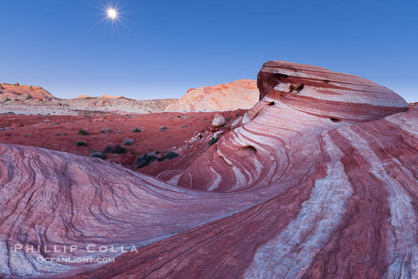 Moonset over Fire Wave, Valley of Fire, Nevada
