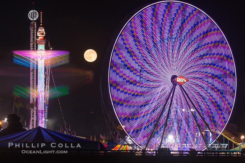 San Diego County Fair at Night, Del Mar, California