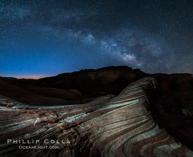 The Fire Wave at Night, Milky Way and Stars, Valley of Fire State Park