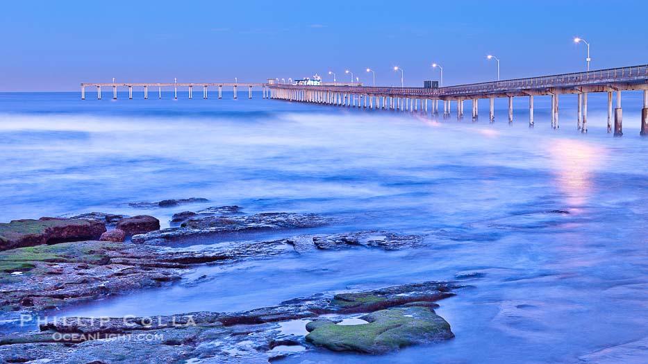 Dawn at the Ocean Beach Pier, San Diego