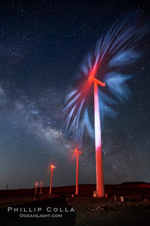 Stars, A Galaxy and … Wind Turbines?