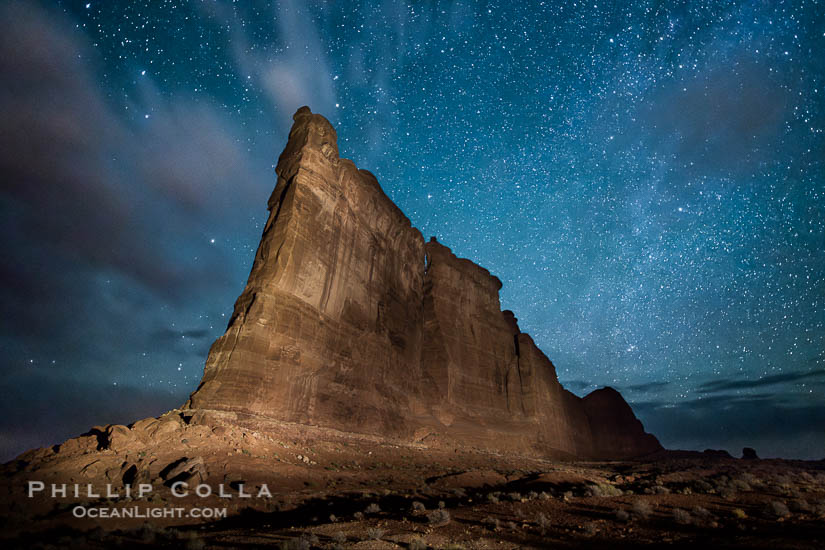 Tower of Babel and Starry Night, Arches National Park, Utah