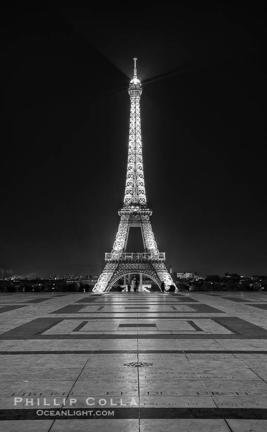 Eiffel Tower over the Trocadero, Paris, France