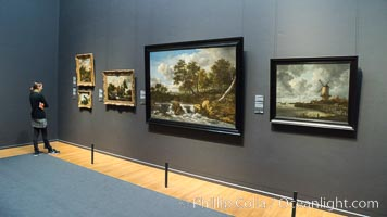 Rijksmuseum gallery and visitor, Amsterdam