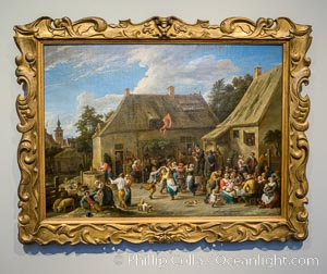 Peasant Kermis, David Teniers (II), c. 1665, canvas, h 78cm x w 106.5cm. Rijksmuseum, Amsterdam, Holland, Netherlands, natural history stock photograph, photo id 29458