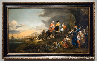 The Dutch Ambassador on his Way to Isfahan, Jan Baptist Weenix, 1653 - 1659, canvas, h 101cm x w 179cm x w 24.5kg. Rijksmuseum, Amsterdam, Holland, Netherlands, natural history stock photograph, photo id 29461