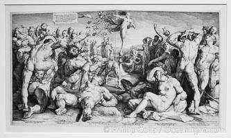 Fortune Dividing her Gifts, Jan Harmensz. Muller, Cornelis Cornelisz. van Haarlem, 1590, paper, h 500mm x w 909mm, Rijksmuseum, Amsterdam, Holland, Netherlands