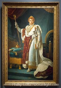 Portrait of Emperor Napoleon I, workshop of Francois Pascal Simon Gerard (Baron), c. 1805 - c. 1815. Canvas, h 226.5cm x w 146cm. Rijksmuseum, Amsterdam, Holland, Netherlands, natural history stock photograph, photo id 29473