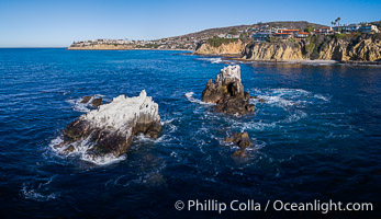 Image 34067, Seal Rocks, Aerial Photo, Laguna Beach, California., Phillip Colla, all rights reserved worldwide.