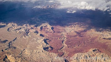 Above the American Southwest, aerial photo