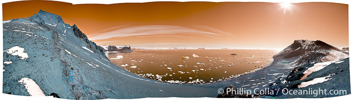 Panorama of Devil Island in Antarctica. Devil Island, Antarctic Peninsula, Antarctica, Pygoscelis adeliae, natural history stock photograph, photo id 26304