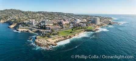 Aerial Panoramic Photo of La Jolla Cove and La Jolla Coastline