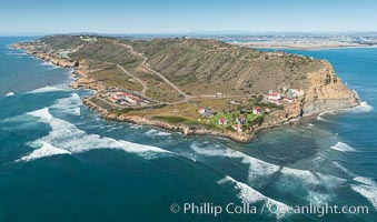 Aerial Photo of Cabrillo State Marine Reserve, Point Loma, San Diego. San Diego, California, USA, natural history stock photograph, photo id 30641