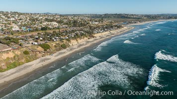 Aerial Photo of Cardiff State Beach and Encinitas Coastline