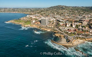 Aerial Photo of Children's Pool and La Jolla Coastline