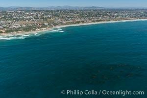 Aerial photo of Coastal Encinitas and Leucadia. Encinitas, California, USA, natural history stock photograph, photo id 30670