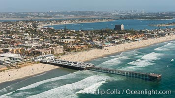 Aerial Photo of Crystal Pier and Pacific Beach, San Diego, California
