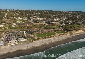 Aerial Photo of Del Mar 15th Street Powerhouse Park, natural history stock photograph, photo id 30729