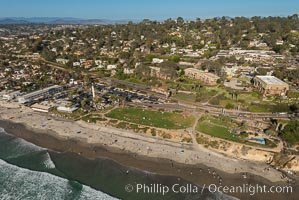 Aerial Photo of Del Mar 15th Street Powerhouse Park, natural history stock photograph, photo id 30730