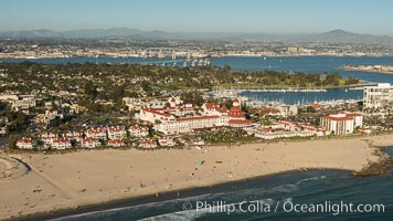 Aerial Photo of Hotel Del Coronado., natural history stock photograph, photo id 30760