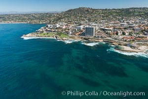 Image 30677, Aerial Photo of La Jolla coastline, showing underwater reefs and Mount Soledad. California, USA, Phillip Colla, all rights reserved worldwide.   Keywords: above:aerial:aerial photo:aerial photograph:aloft:california:coast:la jolla:marine protected area:mpa:ocean:outdoors:outside:pacific ocean:reef:san diego:scene:scenery:scenic:usa:lighthawk:marine.