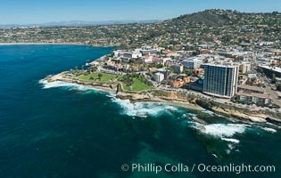 Aerial Photo of Matlahuayl State Marine Reserve (SMR), La Jolla Shores Beach. La Jolla, California, USA, natural history stock photograph, photo id 30635
