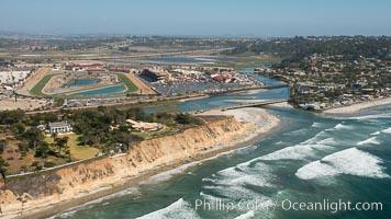 Aerial Photo of North Bluff Preserve, Solana Beach, San Dieguito River and Del Mar
