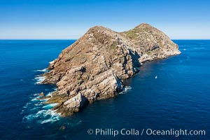 Aerial Photo of North Coronado Island, southern point looking north, Baja California, Mexico. Coronado Islands (Islas Coronado), natural history stock photograph, photo id 34569