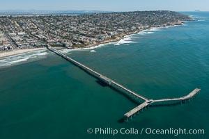 Aerial Photo of Ocean Beach Pier. San Diego, California, USA, natural history stock photograph, photo id 30695