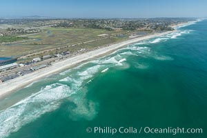 Aerial Photo of Rip Currents off San Elijo State Beach, Cardiff, Encinitas, California